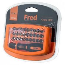 Perfeo отвертка Fred с набором бит (насадок) 31 в 1