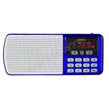 Радиоприемник PERFEO ЕГЕРЬ FM+ 70-108МГц, MP3, питание USB/BL5C, синий (i120-BL
