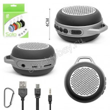 """Bluetooth-колонка PERFEO """"SOLO"""" FM, MP3 microSD, AUX, мощность 5Вт, 600mAh, синяя"""