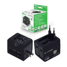 Универсальный сетевой адаптер Ritmix RM-6021 вход: 220/110В выход: 5В 2.1А